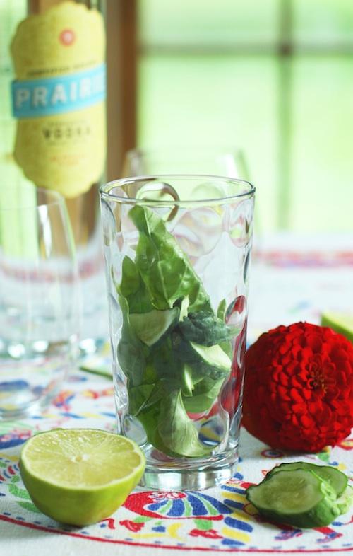 Cucumber Basil Gimlet Recipe :: Set the Table