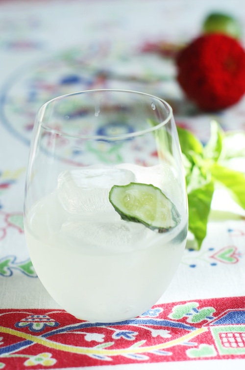 Cucumber Basil Gimlet :: Set the Table