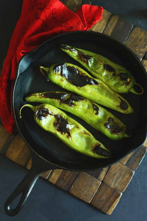 Stovetop Roasted Hatch Chiles :: Set the Table