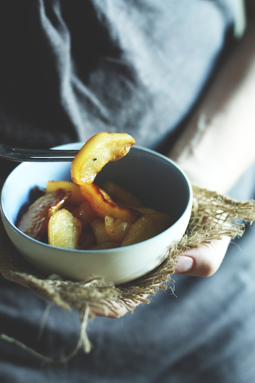 Bowl of Fried Apples :: Set the Table