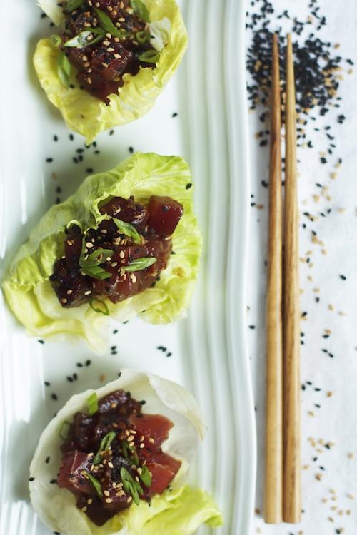 Ahi Poke Lettuce Cups | Set the Table