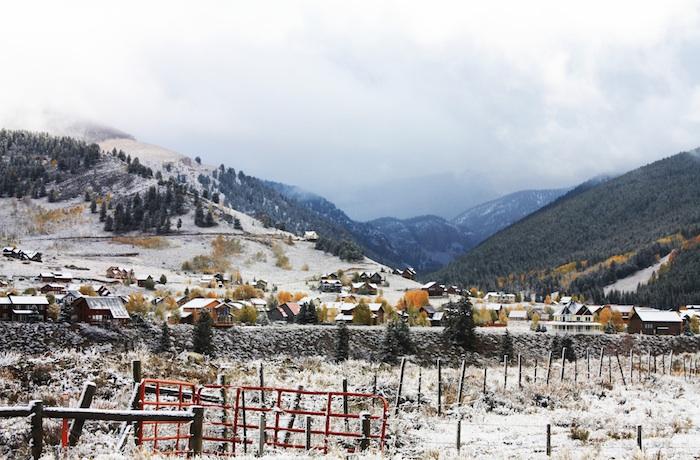 Collision of Autumn & Winter in Colorado