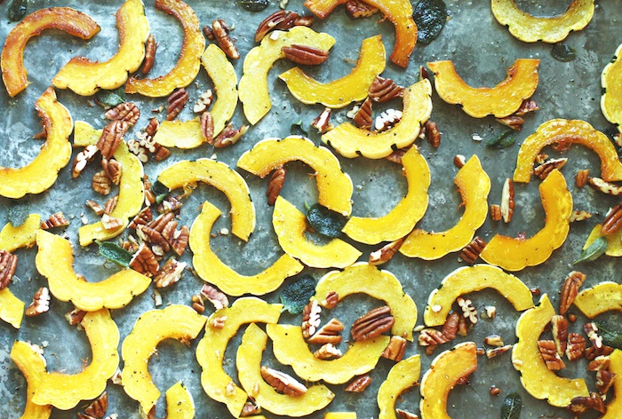 Roasted Delicata Squash, Pecand & Sage :: Set the Table