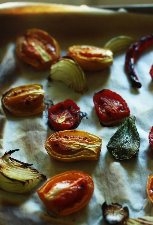 Roasted Tomatoes, Pepper & Onions :: Set the Table