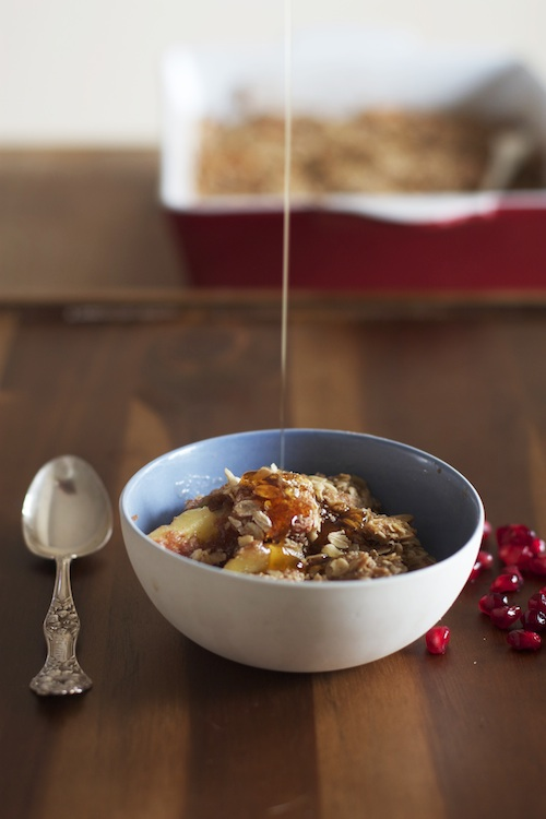 Apple Crisp with Maple Syrup and Pomegranate | Set the Table