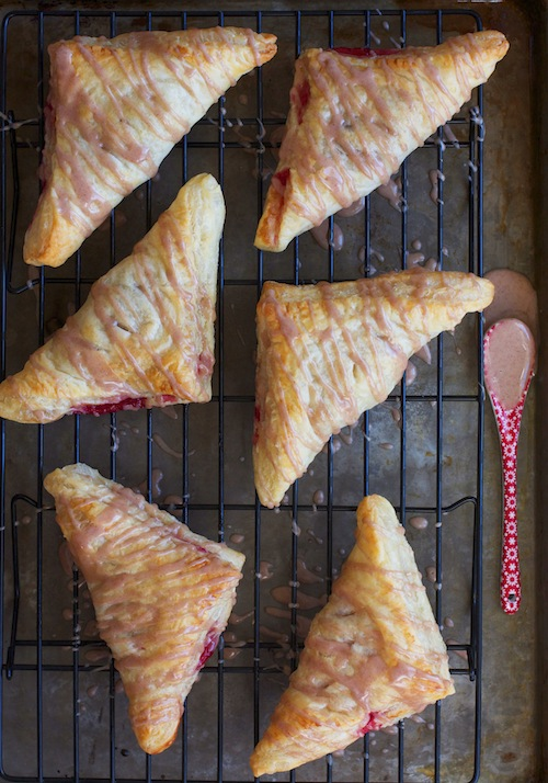 Cranberry Turnovers with Cinnamon Glaze