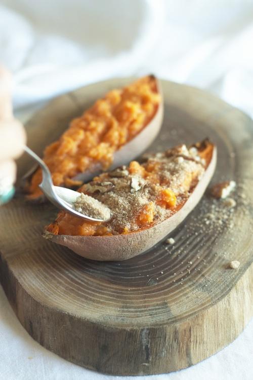 Twice Baked Sweet Potato Recipe | Set the Table