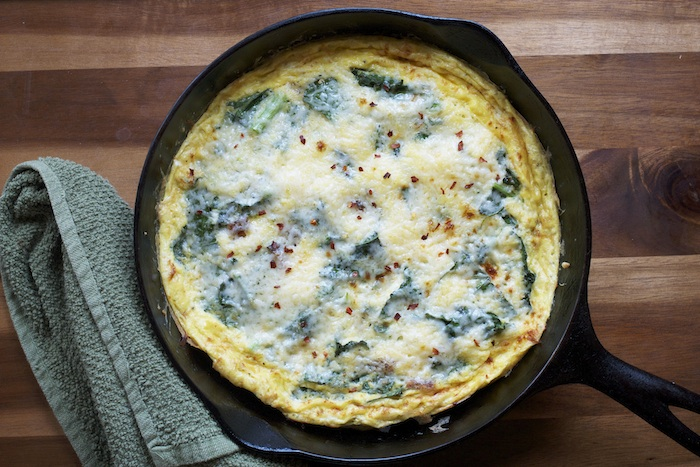 Kale & Asiago Frittata Recipe | Set the Table