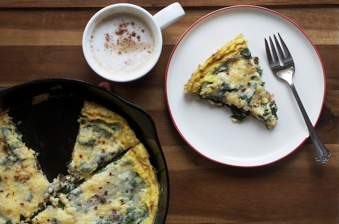 Kale & Asiago Frittata | Set the Table