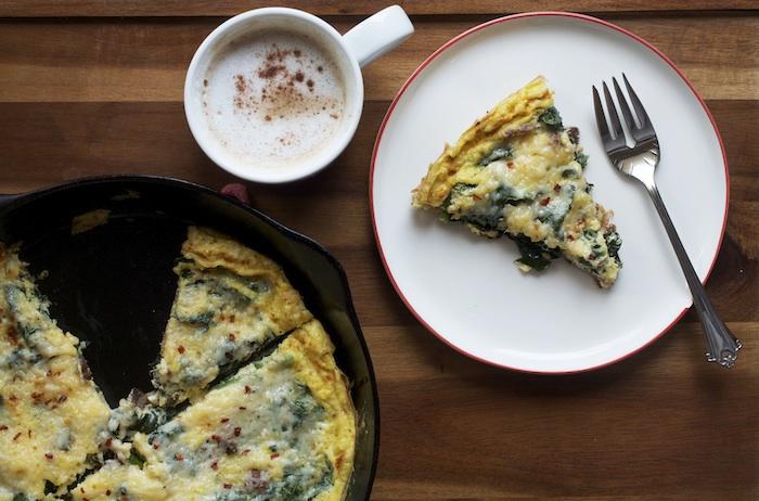 Kale & Asiago Frittata | Set the Table