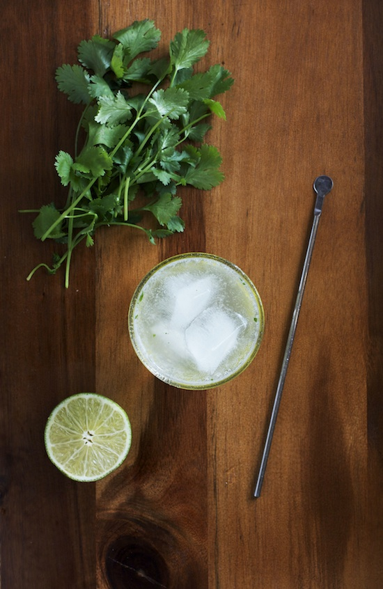 Cilantro Lime Gin Cocktail | Set the Table