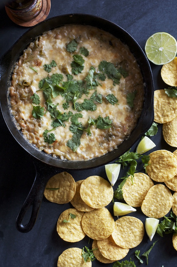Vegetarian Cheesy White Chili Dip | Set the Table