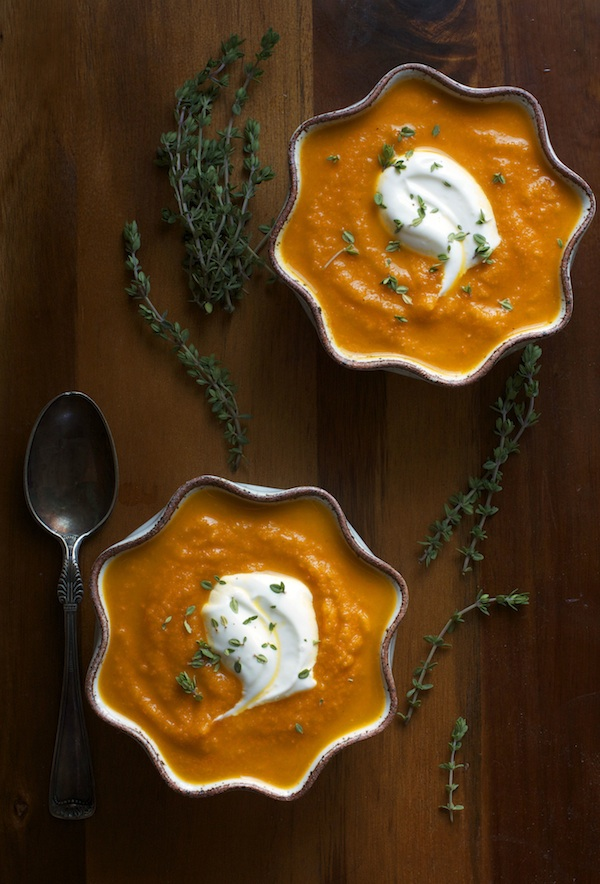 Silky Carrot Soup with Tillamook Farmstyle Greek Yogurt | Set the Table