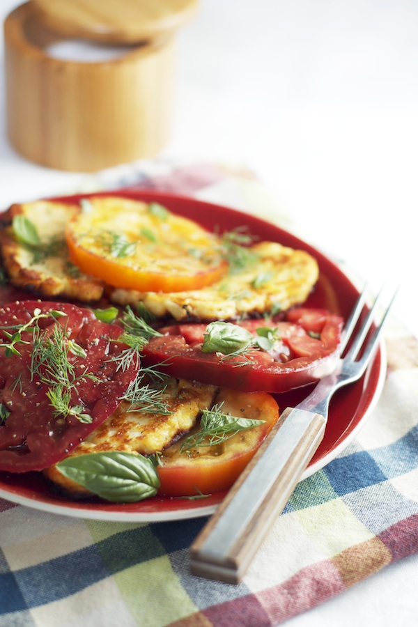 Tomato Salad with Halloumi & Fresh Herbs | Set the Table