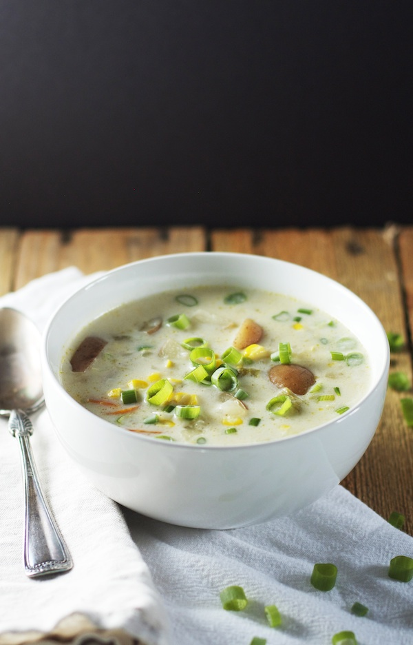 Light Corn Chowder with Hatch Chiles | Set the Table