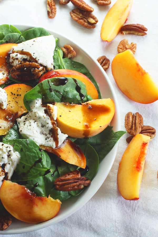 Peach, Burrata and Pecan Salad | Set the Table