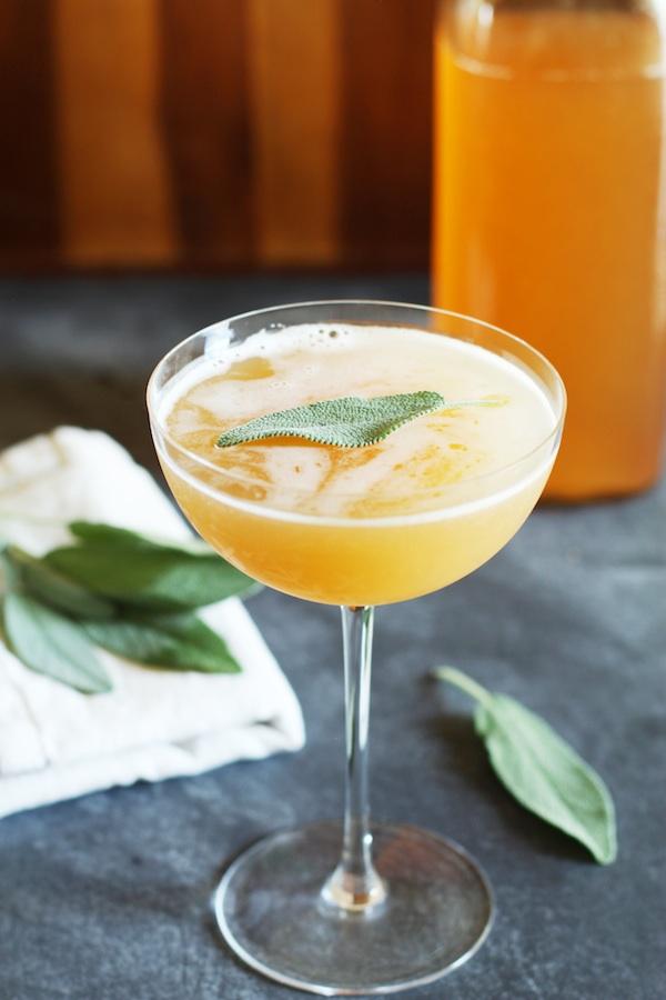 Peach Shrub & Apple Cider Mocktail | Set the Table