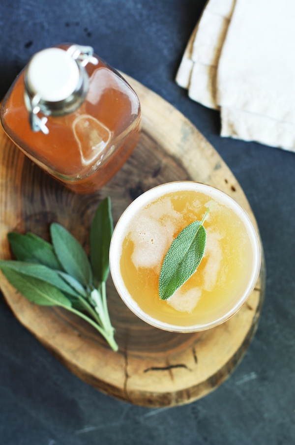 Peach Shrub Mocktail | Set the Table