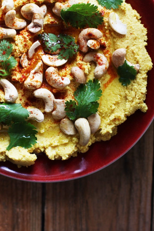 Curried Pumpkin Hummus with Cashews | Set the Table