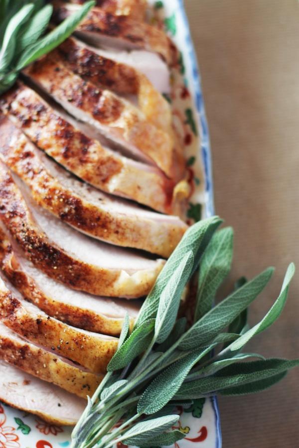Cinnamon-Rubbed Roasted Turkey Breast | Set the Table