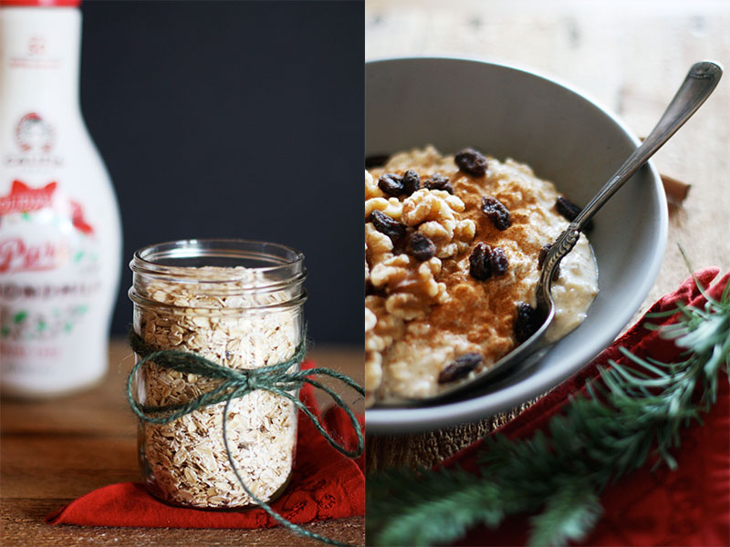 Healthy Overnight Eggnog Oats | Set the Table