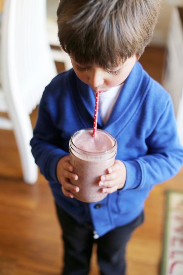 Kid-Friendly Strawberry Almond Smoothie | Set the Table
