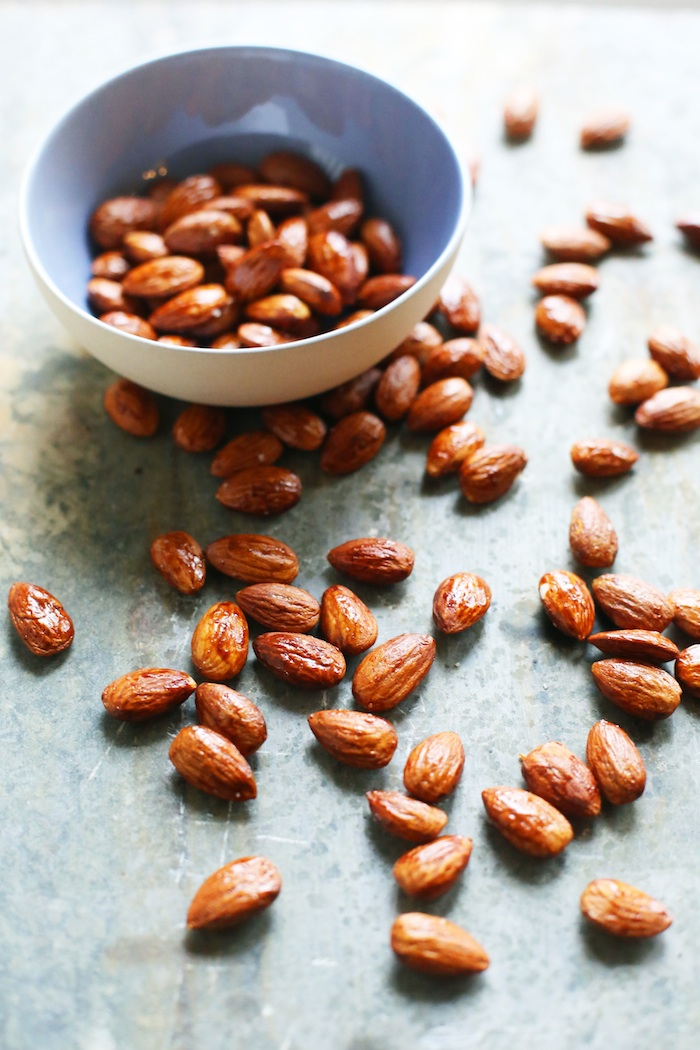 Maple Soy Roasted Almonds | Set the Table