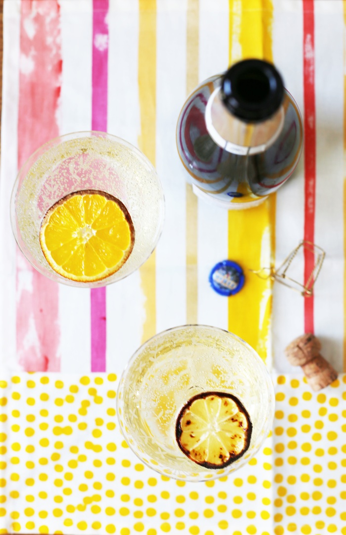French 75 with Broiled Citrus | Set the Table