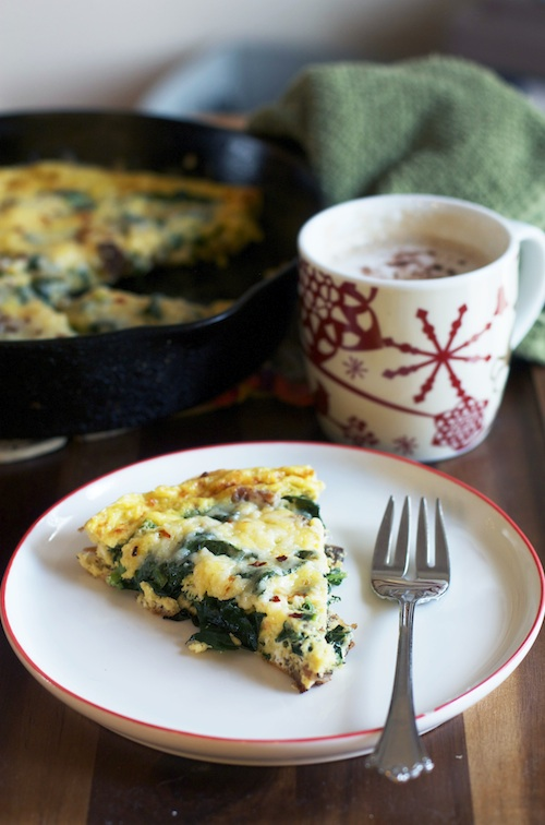 Healthy Asiago + Kale Frittata | Set the Table