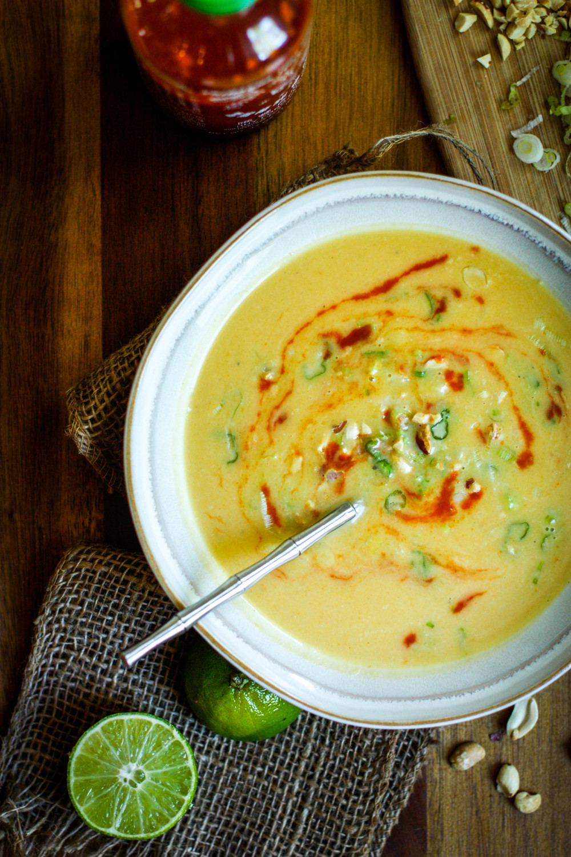 Pot of Butternut Squash Soup :: Set the Table