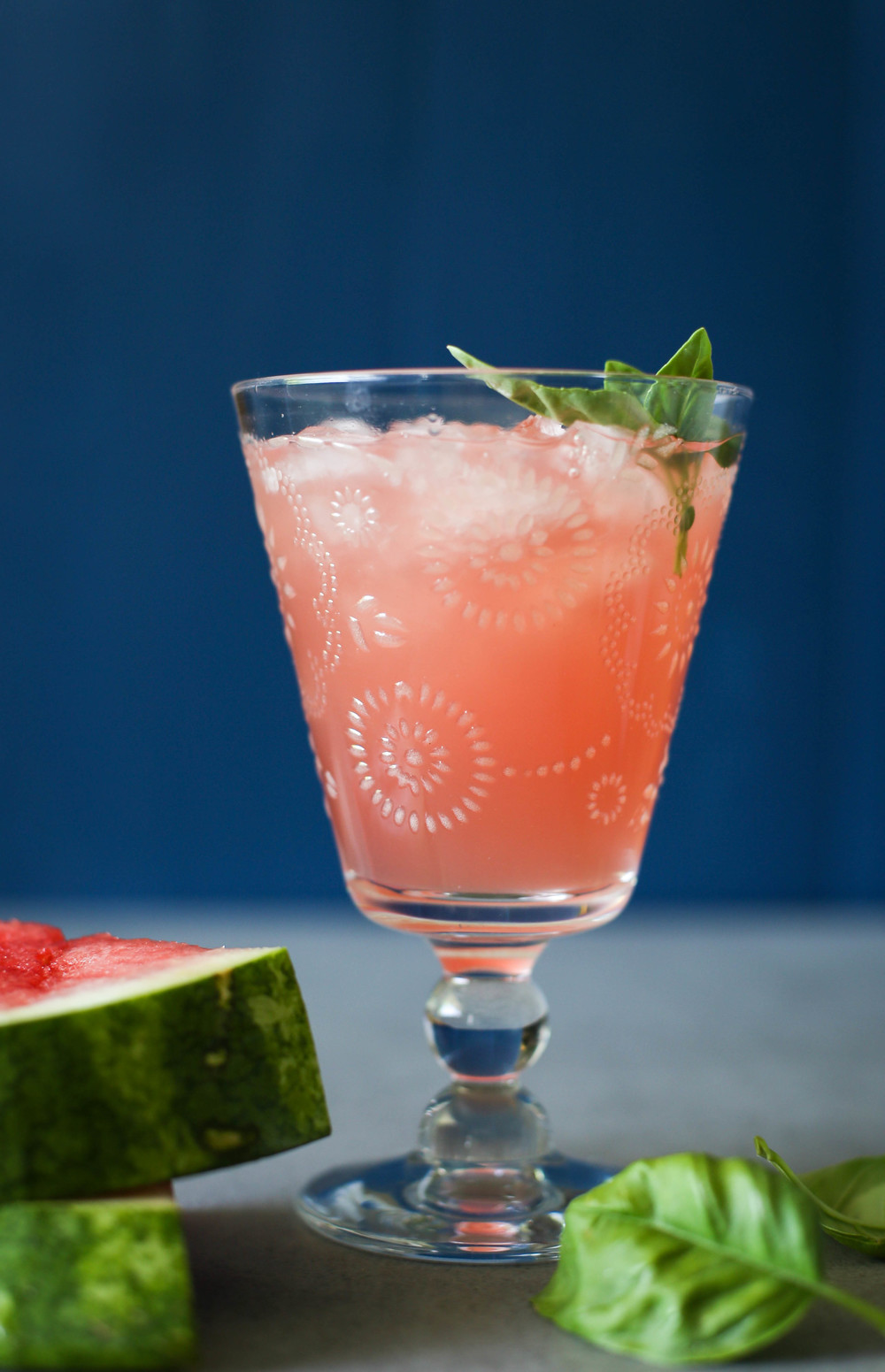 Watermelon Agua Fresca with Basil