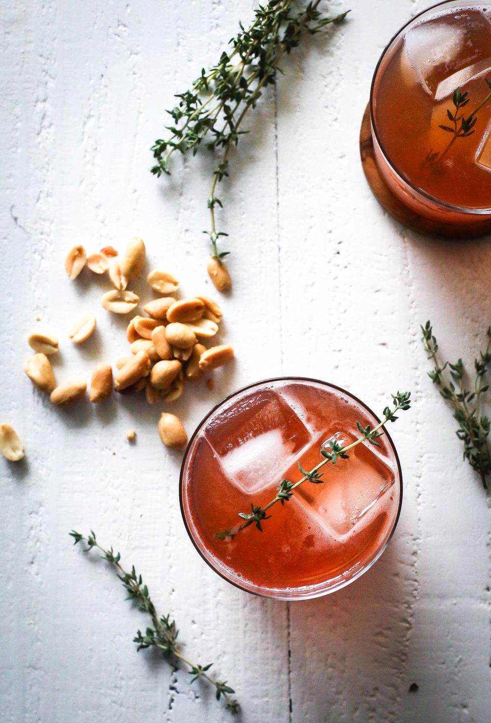 Raspberry Rhubarb Whisky Sour