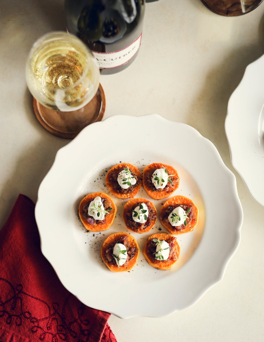 Sweet Potato Medallions with Bacon Jam