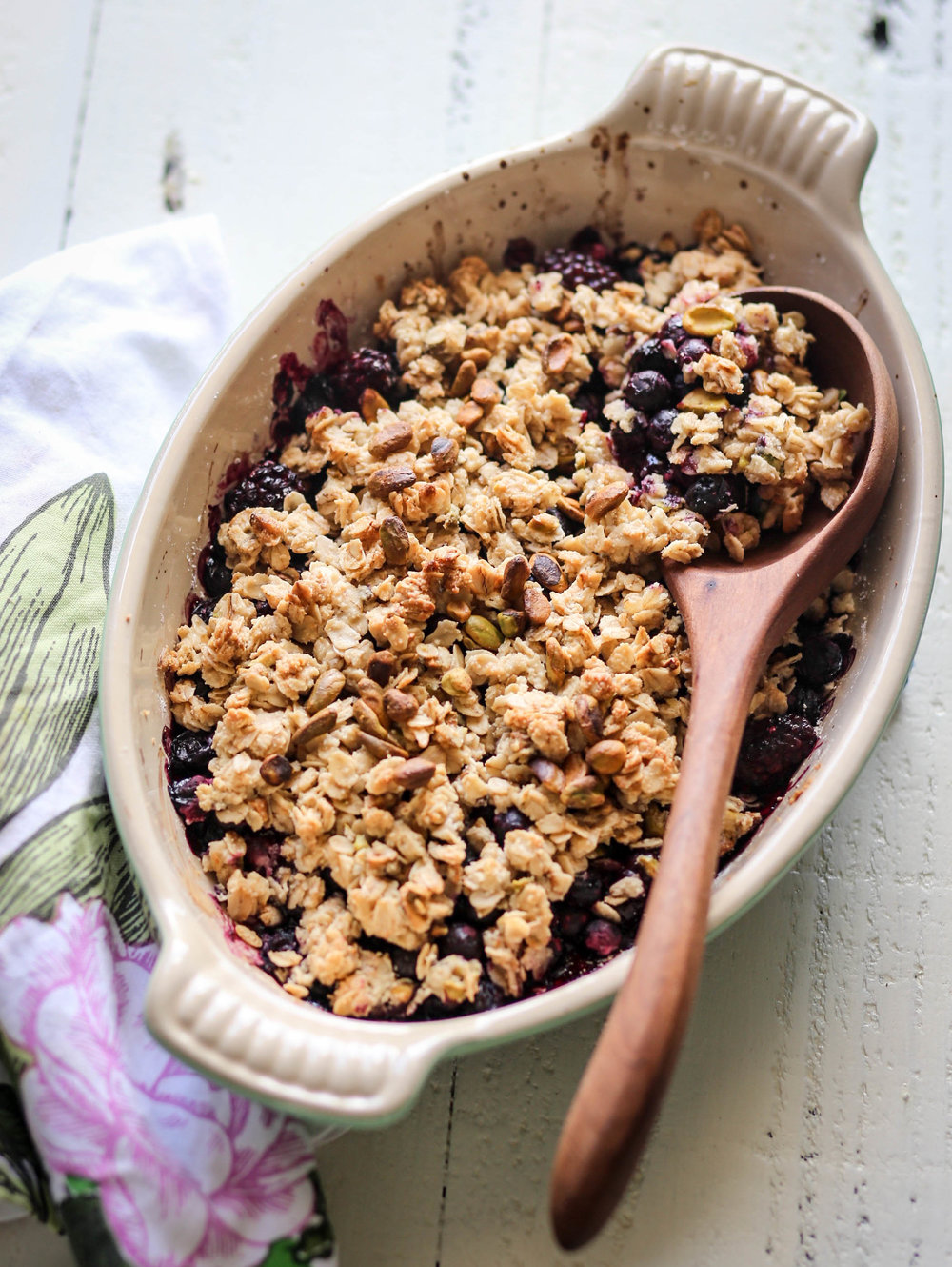 black & blueberry crisp