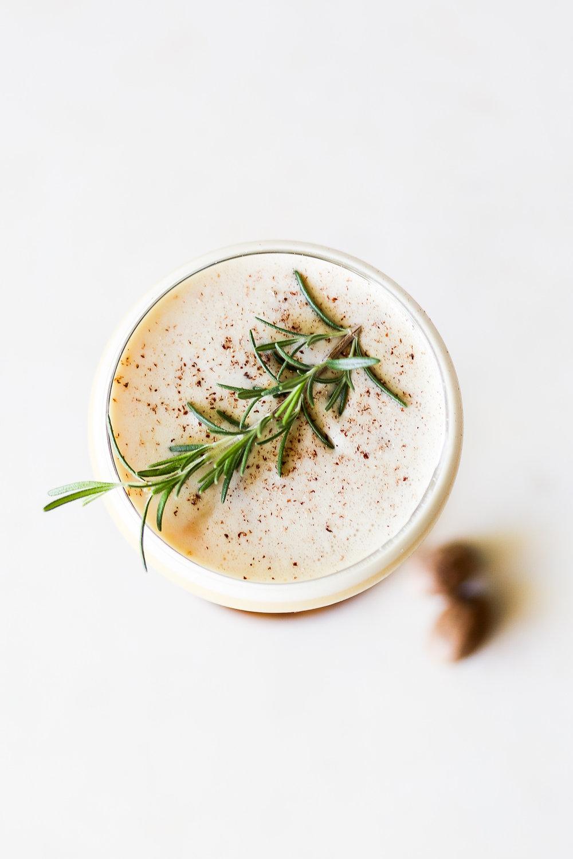 Ponderosa Pine Flip | Set the Table #bourbon #cocktail #recipe #fallcocktailrecipe #cocktailhour #homemade #butterscotch #rosemary