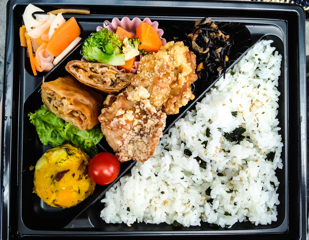 One of my favorite bentos to buy at Takashimaya when we lived in Tokyo.
