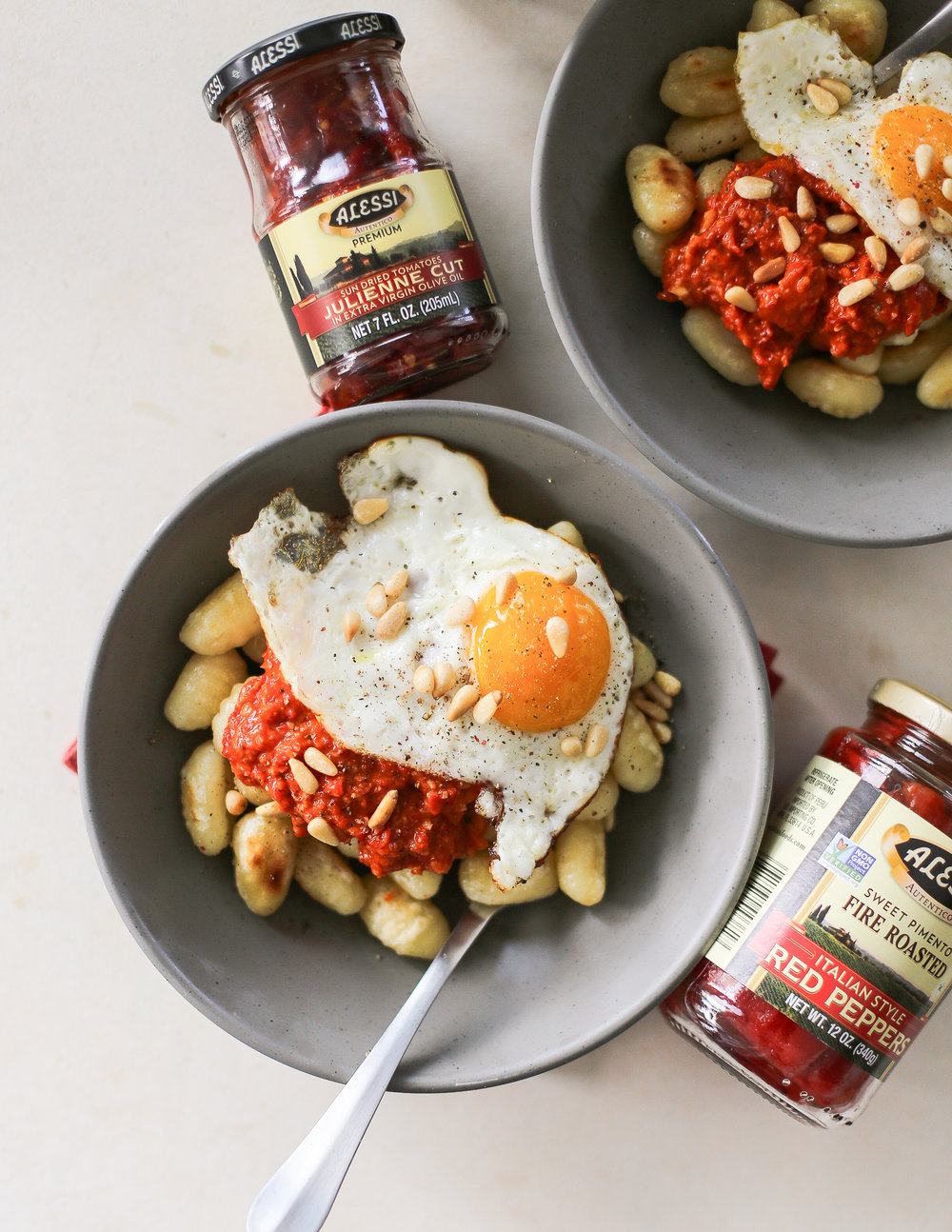 Date Night Gnocchi with Red Pepper & Sun Dried Tomato Pesto | Set the Table #AlessiWay http://bit.ly/AlessiSpring19