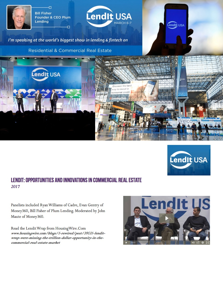 LENDIT: Opportunities and innovations in commercial real estate