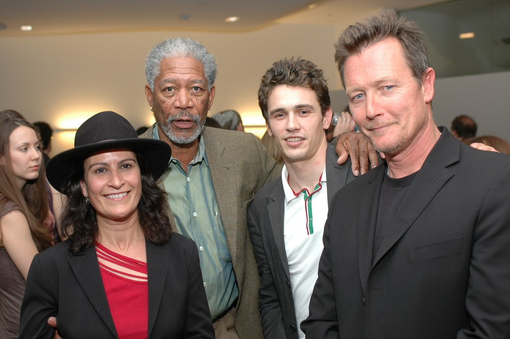 """With Morgan Freeman, James Franco and Peter Weller at Michele's film, """"Cowboy Del Amor"""" Premiere"""