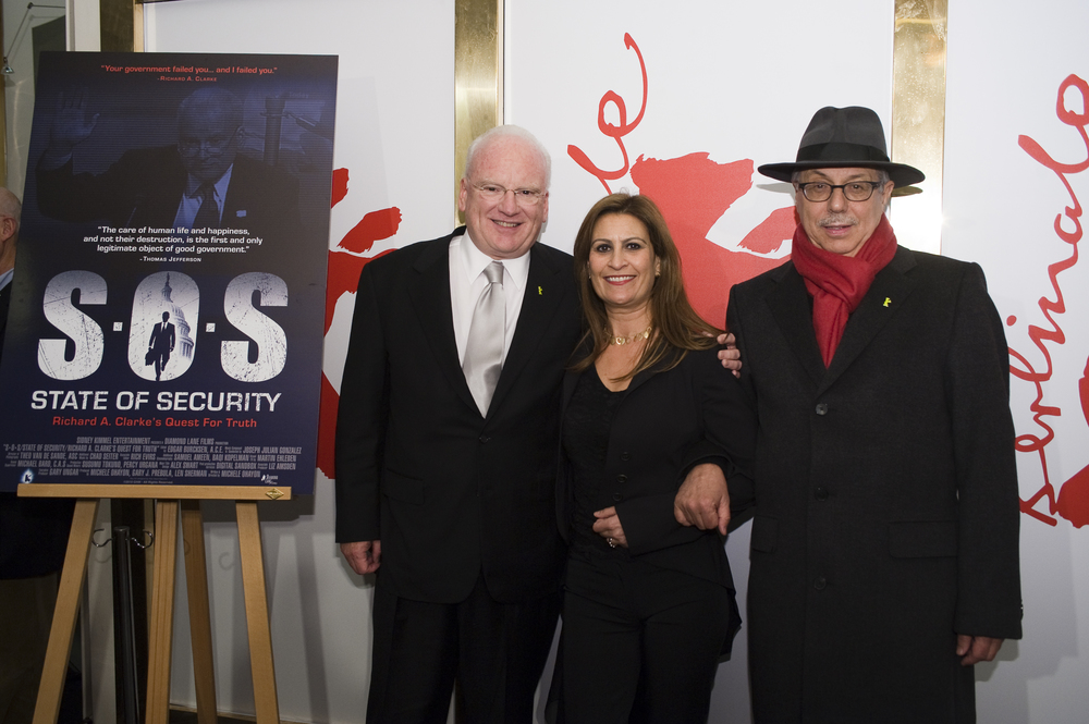 With Richard Clarke and Dieter Kosslick at Berlin Film Festival
