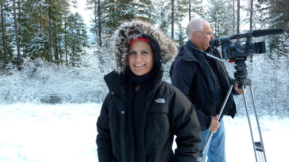 Filming in Idaho with DP Theo Van de Sande