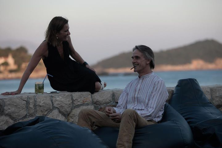 With Jeremy Irons in Dubrovnik, Croatia during Sarajevo Film Festival