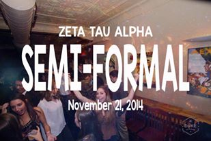 Zeta Tau Alpha Semi-Formal (11/21/2014)