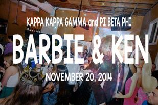Kappa Kappa Gamma and Pi Beta Phi- Barbie and Ken (11/20/2014)