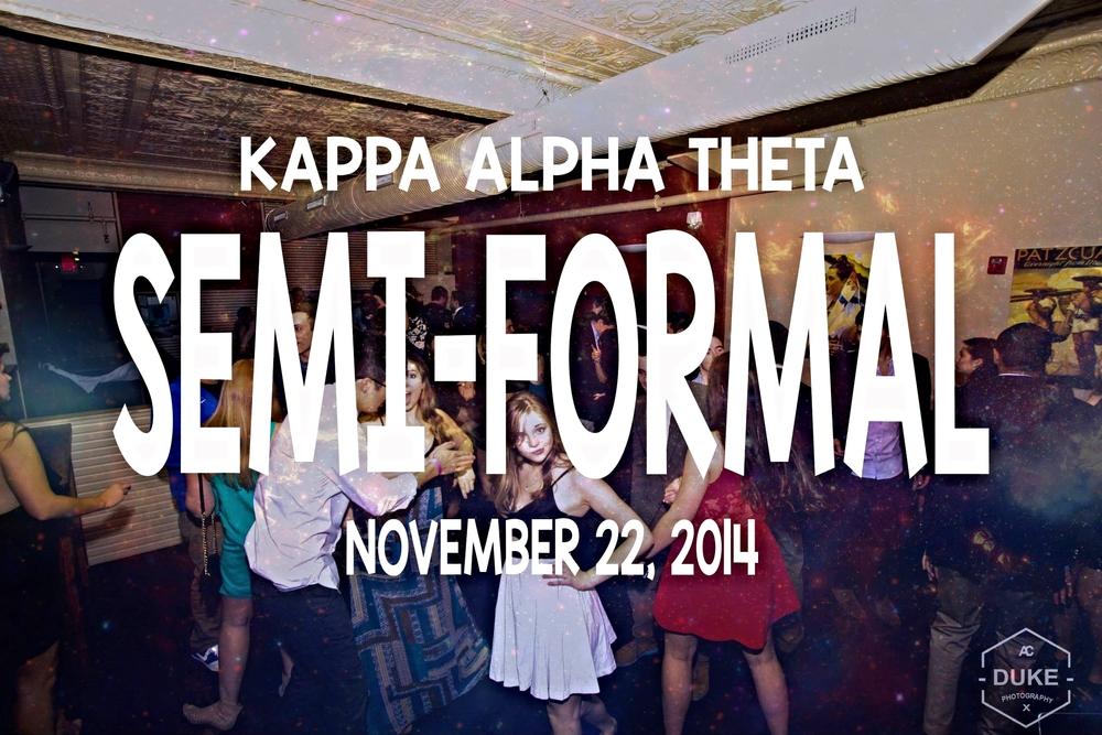 Kappa Alpha Theta Semi-Formal (11/22/2014)