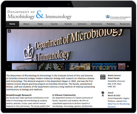 Custom websites for a leading academic research department and individual labs.