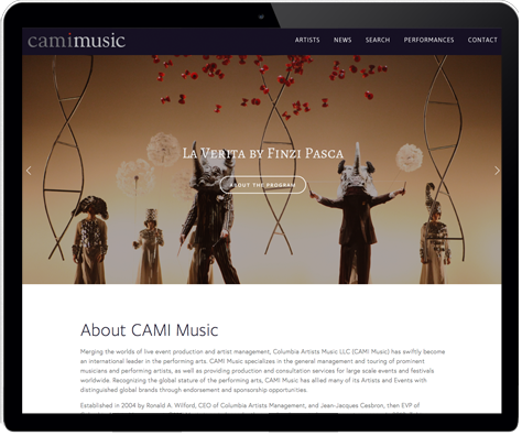 A new look and platform for a classic music brand.