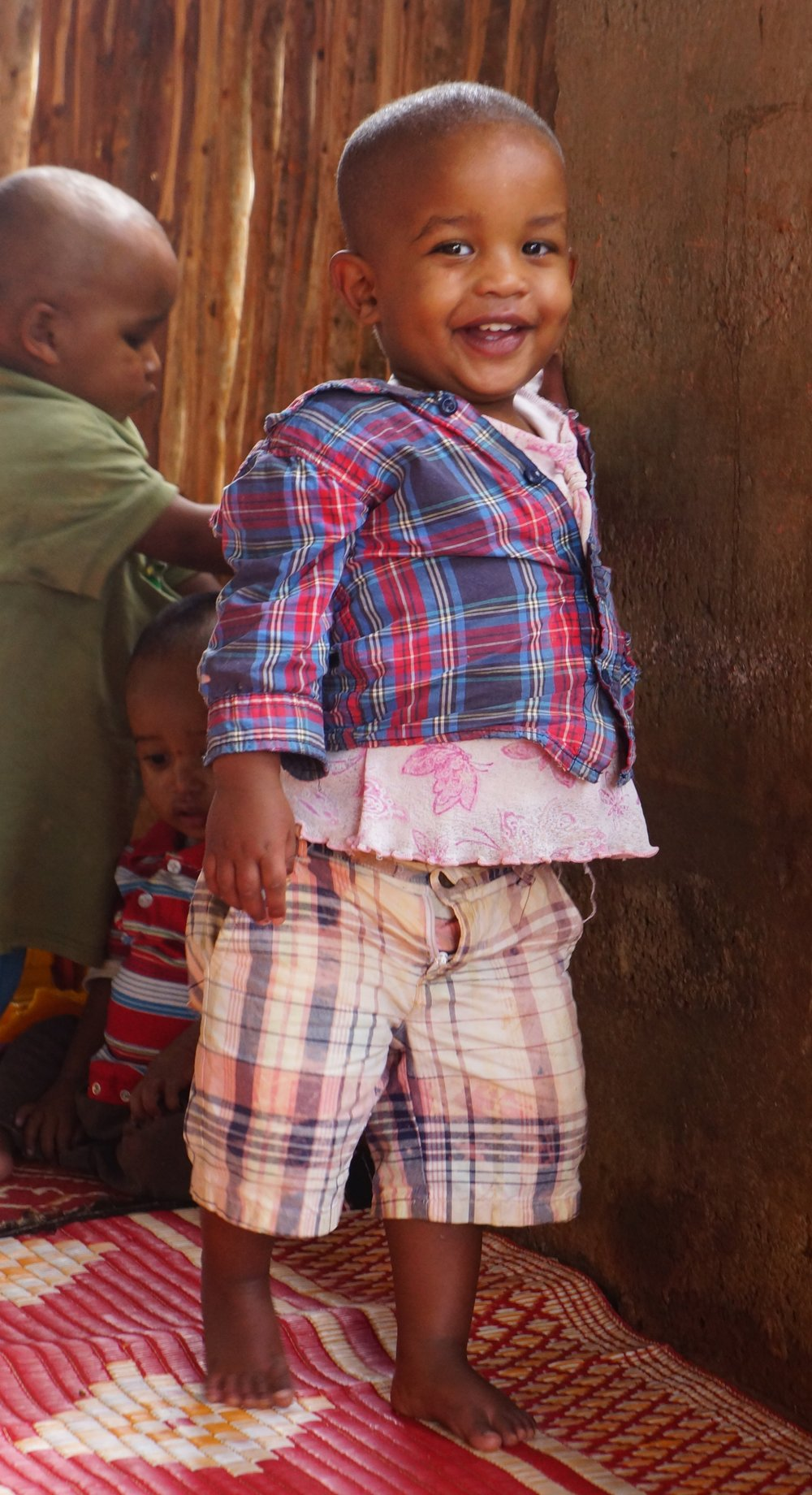 Abduramane   Abduramane was abandoned as a newborn, but he has grown into a toddler who loves to be snuggled and cuddled, and is a fun loving easy going boy. He is walking like a champ!Abduramane is generously sponsored by Molly Talla and Family.