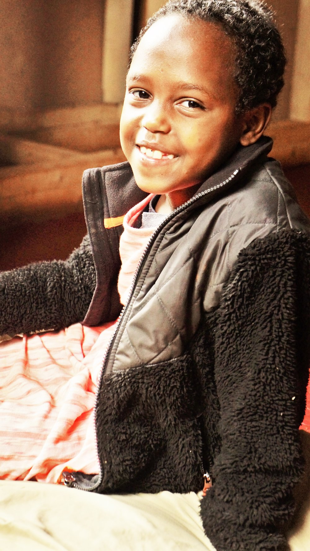 Bethlehem Mengestu Bethlehem came to us in February of 2017, and she is a lovely little 6 year old girl. She is now attending school, and quickly made some great friends with our other older children. Bethlehem is generously sponsored by Aurora Cohodes.