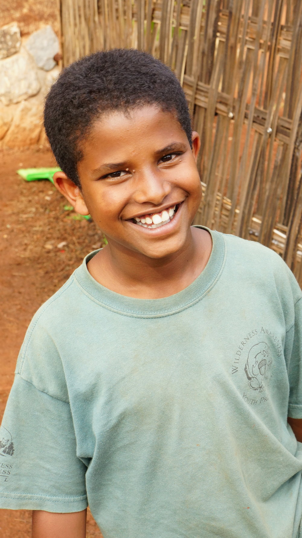 Nigatu   Nigatu came to us with a smile on his face and a kind, sweet spirit. He has adjusted really well to our care center, and has become good friends with the other older kids. Nigatu is generously sponsored by Olivia Cox-Fill.